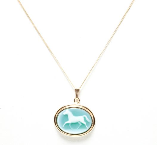 Laura Lee Horse Ring Cameo Necklace Cameo Role