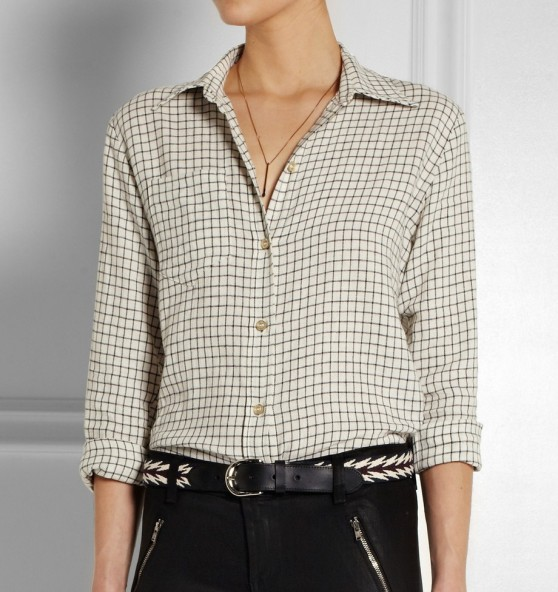 Isabel Marant Dully Checked Linen Shirt e1402917686129 Pick of the Week