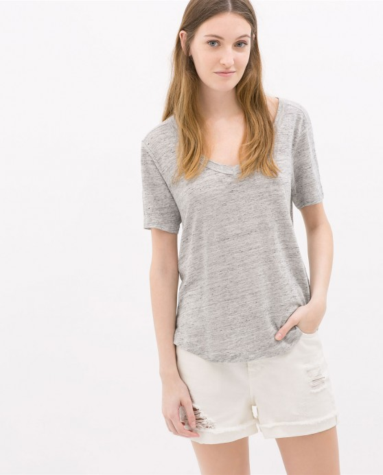 0839035803 1 1 1 e1407267060157 Mostly Lovin: Zara Linen T Shirt