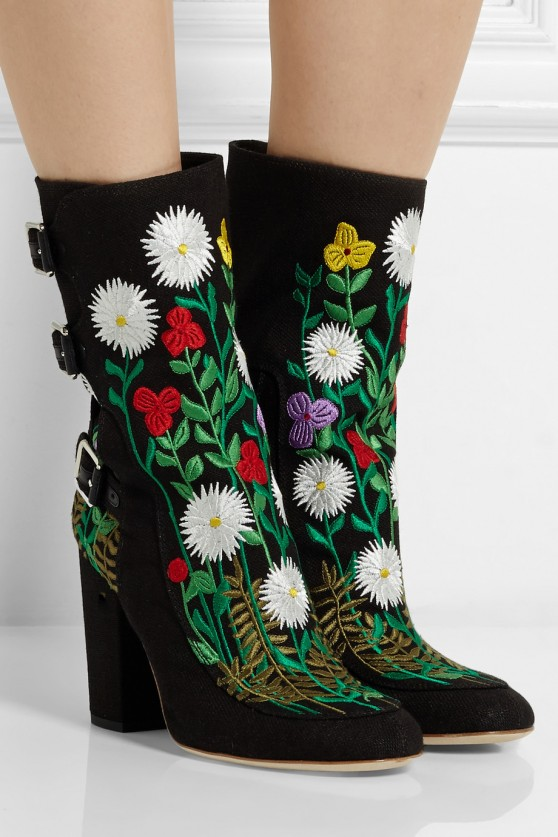 Floral Merli Canvas Boot