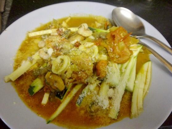 Seafood Courgetti